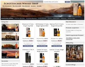 Scotch Whisky Shop mit Magento